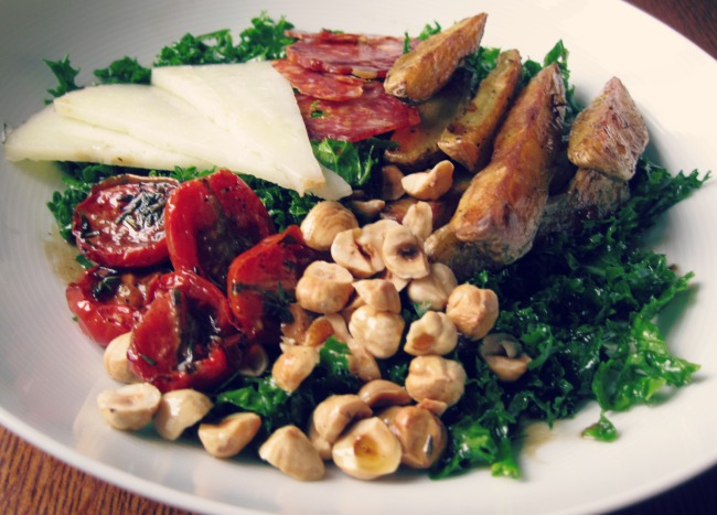 Spanish kale salad